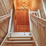 2階へ続く階段行橋市泉中央【築後未入居】別荘にもピッタリなログハウス