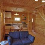 家具設置例です北九州市八幡西区平尾町【築後未入居】水色の可愛いログハウス