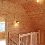 2階は部屋兼ホールにつながっています北九州市八幡西区平尾町【築後未入居】水色の可愛いログハウス