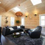 大きなソファも余裕で設置可北九州市若松区塩屋【築後未入居】暖炉付きのデザイナーズログハウス