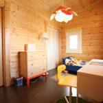 子供部屋にも北九州市若松区塩屋【築後未入居】暖炉付きのデザイナーズログハウス