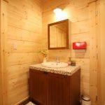 トイレ用手洗い場北九州市若松区塩屋【築後未入居】暖炉付きのデザイナーズログハウス