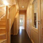 廊下部分です北九州市若松区塩屋【築後未入居】暖炉付きのデザイナーズログハウス