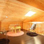 天窓付きの明るいロフト北九州市若松区塩屋【築後未入居】暖炉付きのデザイナーズログハウス