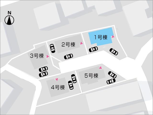 角に面しているので駐車もしやすいです北九州市小倉北区泉台 17帖リビング、玄関収納、書斎など…おすすめ物件です!