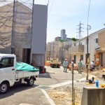 施工エリアの道路です北九州市小倉北区泉台|全室6帖以上!収納スペース多数あります。