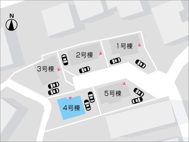 並列駐車可!建物奥には専用庭あり!北九州市小倉北区泉台|全室6帖以上!収納スペース多数あります。