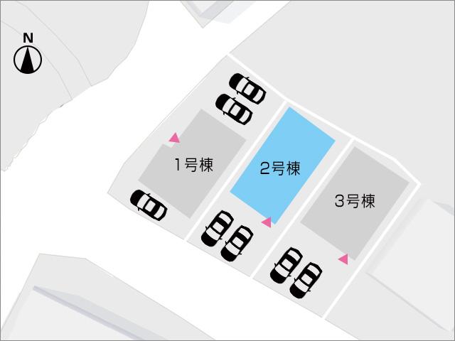 並列二台駐車することができます。北九州市小倉北区上到津|1階に6帖以上の洋室あり