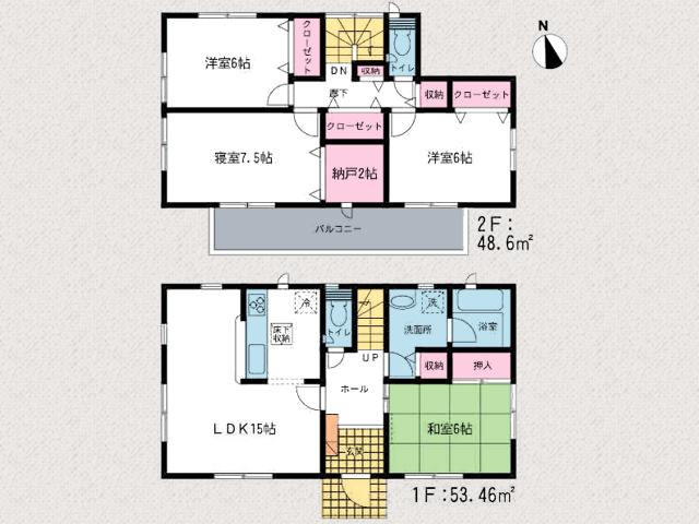 プライベート空間が広々6帖以上!北九州市小倉南区沼新町|土地広々240㎡以上!専用庭が広くて嬉しい!