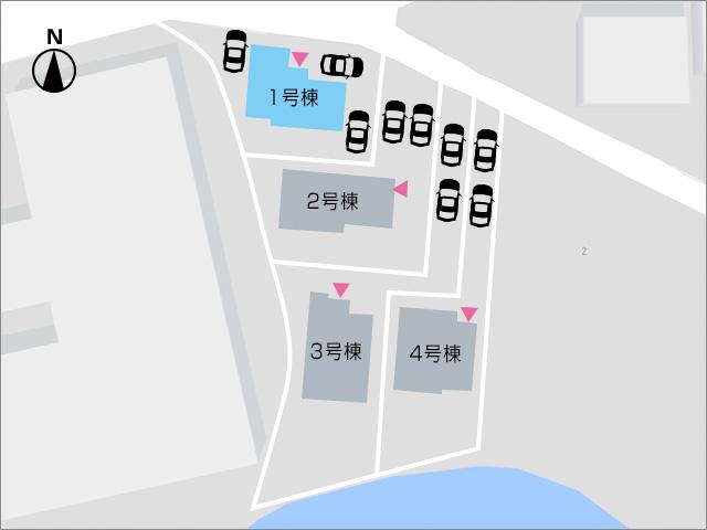 建物周りに約3台駐車可能です!北九州市門司区吉志|全部屋からベランダへ出ることができます!