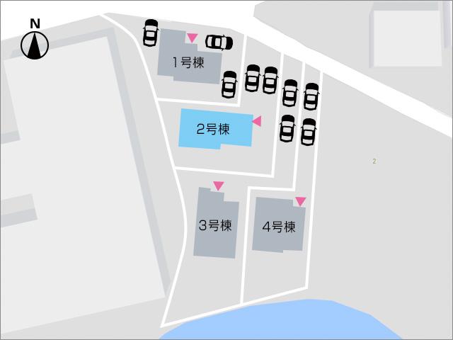 並列2台駐車可能!専用庭のスペースもあります。北九州市門司区吉志|収納に便利なクローゼット多数あります!