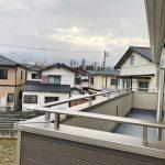 日の当たりやすいベランダです北九州市小倉南区朽網西|7帖以上の洋室が3部屋もあります!