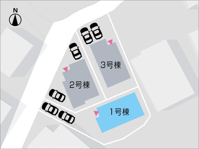 縦列駐車ですが、広々専用庭付きです!北九州市小倉南区朽網西|7帖以上の洋室が3部屋もあります!