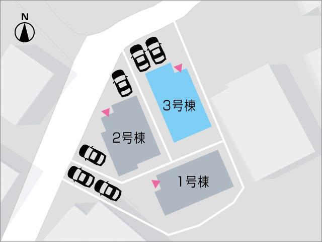 並列で2台駐車可能です!北九州市小倉南区朽網西|3帖もある大きな納戸スペースつき!