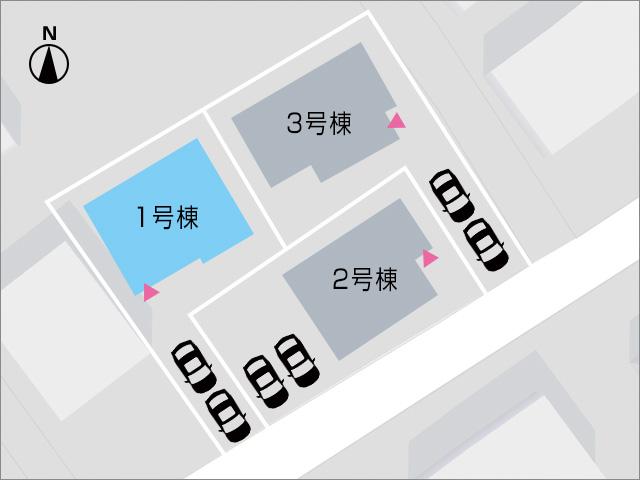 縦列駐車で通りから見えない奥の区画です!北九州市小倉南区朽網東 各個室は6帖以上あって広々間取り!