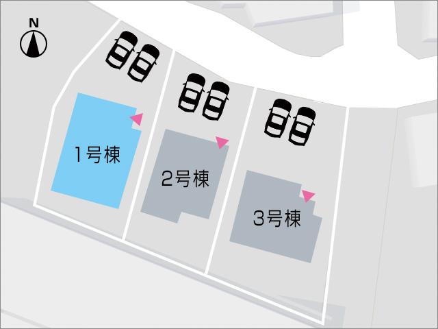 住宅正面に並列2台駐車可能!北九州市小倉南区長尾|希少!モノレール近隣の人気エリアです