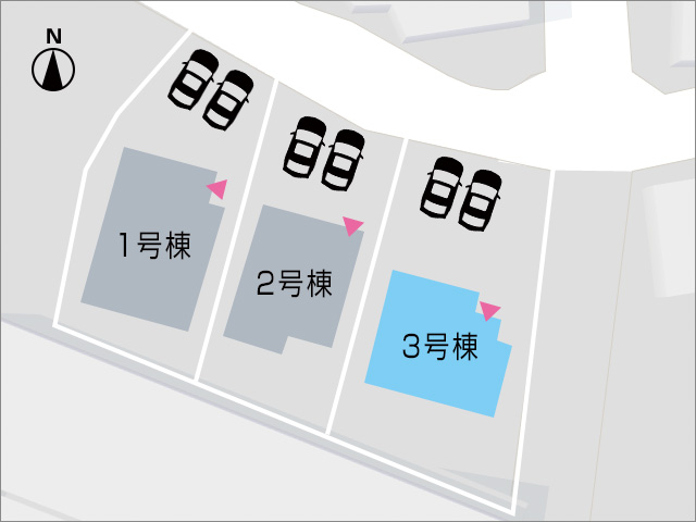 専用庭広々!人気の角地区画です。北九州市小倉南区長尾|コンビニすぐ!スーパーなどもあります