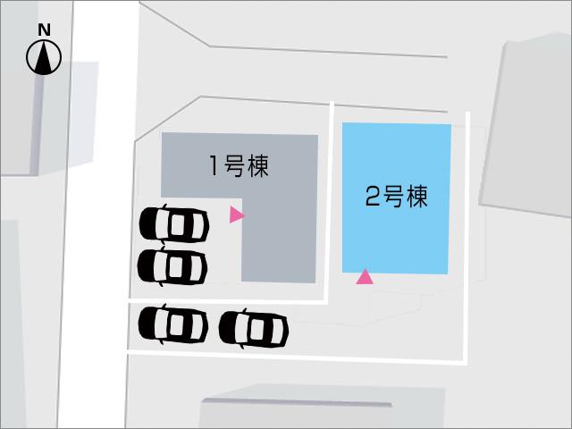 縦列で2台分駐車が可能です!北九州市小倉南区中曽根東|収納に便利な2帖の納戸が2箇所あります