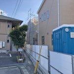 外観北九州市小倉南区中曽根|玄関入ってすぐキッチン!共有収納2箇所あり。