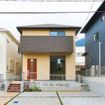 ブラウン系の落ち着いた外観です北九州市小倉北区須賀町|ウォークインクローゼットが多いお家です!