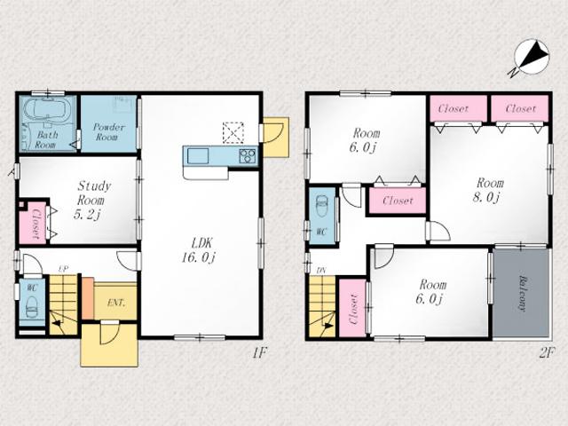 6~8帖の洋室でプライベート空間も広々北九州市小倉南区上葛原|サンリブシティ小倉の裏通りにある住宅です!