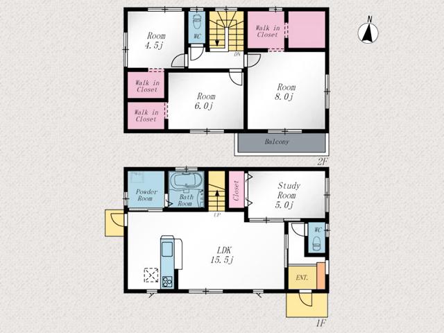 北九州市門司区大里東|広い部屋と収納いっぱいの洋室!