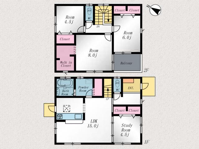 主寝室は8帖以上有りウォークインクローゼットもついています!北九州市小倉南区下曽根|駅チカ!下曽根駅まで徒歩5分以内です!