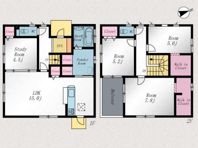各部屋広々!収納も十分です。北九州市八幡西区春日台|駅チカ!スーパー近隣!アクセス便利な物件です。