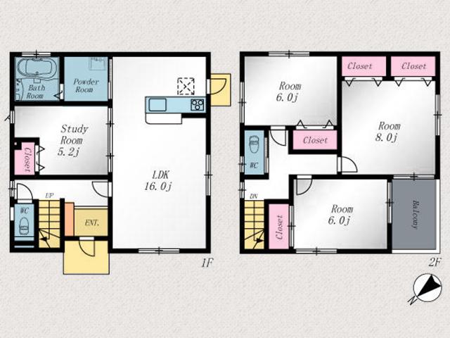 6~8帖の広い洋室・寝室です!行橋市南泉|池・山など自然豊かな住宅街です!