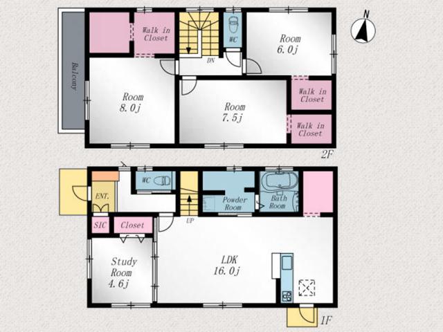 洋室6帖以上が3部屋もあります!北九州市若松区赤崎町|コンビニやスーパーへのアクセスは徒歩圏内!