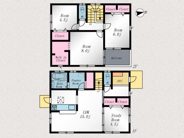 8帖の広いベッドルームあり!北九州市若松区桜町|若松中心部に位置する便利な町にあり!