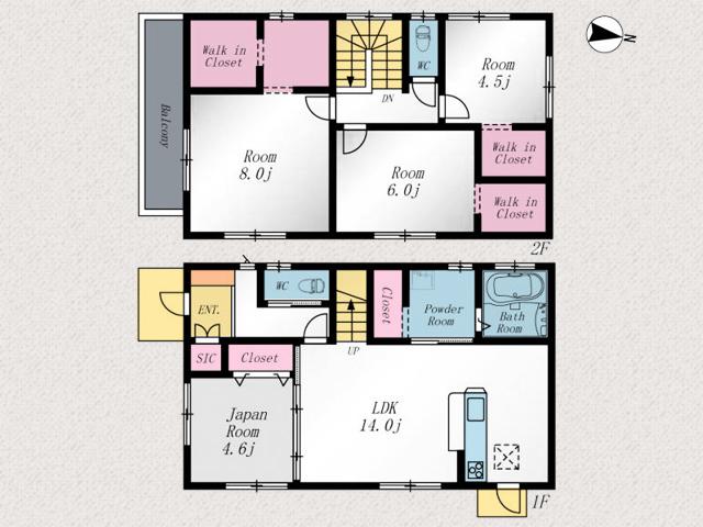 人気のリビング階段採用物件です北九州市八幡西区木屋瀬|2階全室ウォークインクローゼットあります