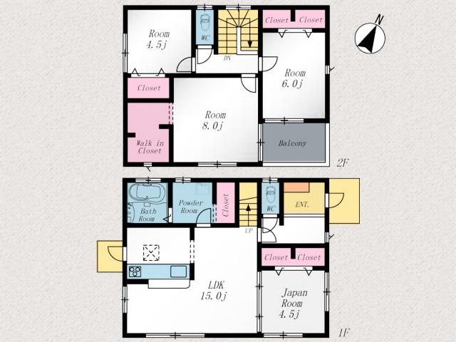 寝室は大きなウォークインクローゼットつきです北九州市八幡西区木屋瀬|駅まで徒歩10分以内の駅チカ物件です
