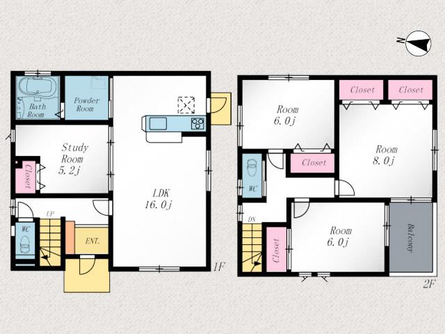 16帖の広々リビングで寝室も8帖あります!北九州市八幡西区折尾 日当たりがよく近隣住民の気にならない人気の角地