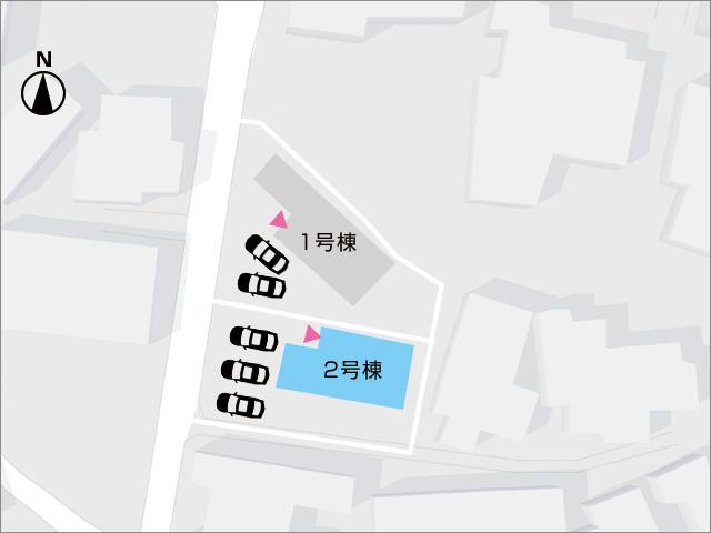 区画図北九州市小倉北区上富野|車種によって3台駐車可能です!