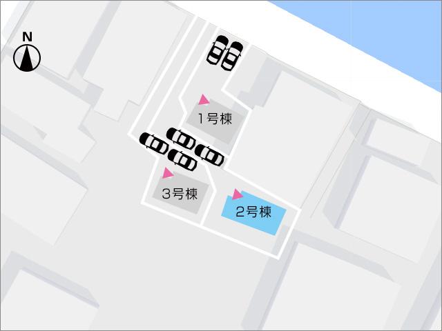 区画図北九州市戸畑区丸町|来客も気にしない!土地広々です!