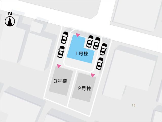 区画図北九州市八幡西区日吉台|邪魔にならないWIクローゼットスペース!