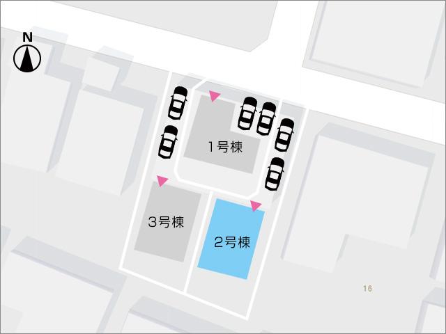 区画図北九州市八幡西区日吉台|共有スペースに納戸があるので収納便利!