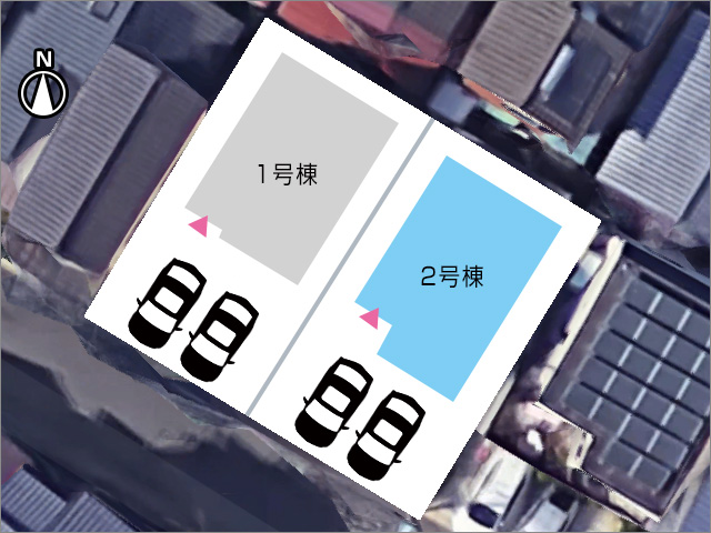 並列2台駐車可能です!北九州市小倉南区横代北町|ベットルームのウォークインクローゼットは3帖以上!