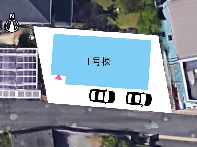 南側は道路で日当たり良好です北九州市小倉北区熊谷|高台にあり日当たり良好です