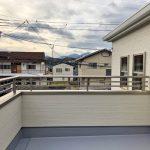正方形の広いバルコニー北九州市小倉北区熊谷|玄関広いです!収納スペースもたっぷり!