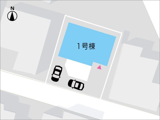 2台分のL字駐車可能です!北九州市小倉北区篠崎|2階共有部から出入り可能なセンターバルコニー