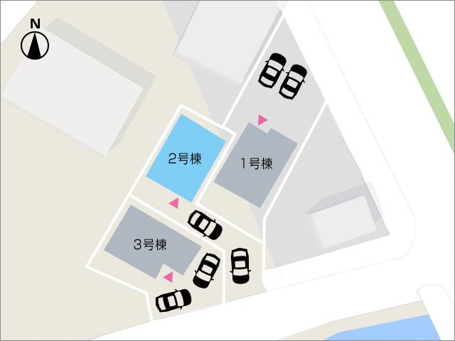駐車場2台縦列駐車が可能です!北九州市小倉南区蒲生|9帖弱の寝室と4帖以上あるバルコニー!