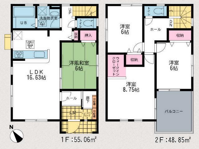 シューズインクロークなど玄関収納広々!北九州市小倉南区蒲生|9帖弱の寝室と4帖以上あるバルコニー!