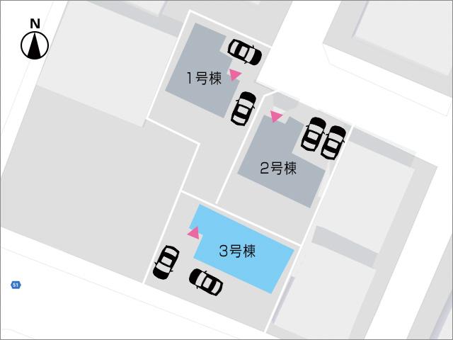 通り沿いで日当たりの良い場所です北九州市小倉南区北方|個人で使えるバルコニー2箇所あり!