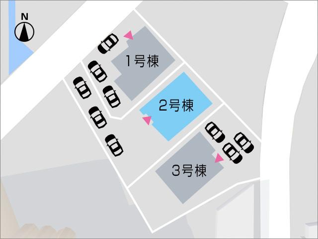 急な来客も安心な縦列駐車3台分!北九州市小倉南区城野|6帖分あるワイドなバルコニーつき