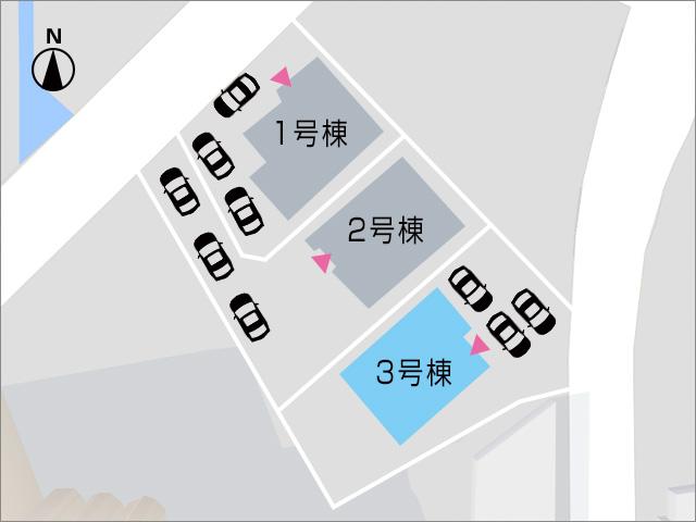 普段は並列、来客時は縦列で駐車可能!北九州市小倉南区城野|専用庭付きでさらに駐車場は3台分!