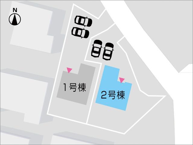 並列2台分の駐車場に広い専用庭あり。北九州市小倉北区霧ケ丘|土地面積200m²以上で広~い専用庭付き!