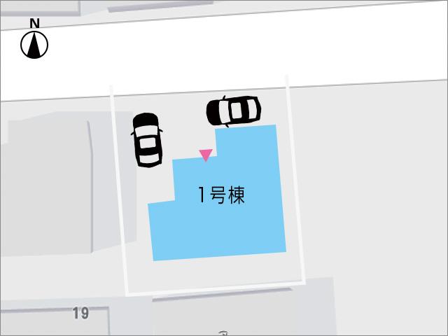 L字で2台駐車が可能です!北九州市小倉南区八幡町|玄関入ってすぐキッチンの間取りです
