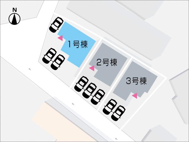 駐車3台可!角地で停めやすい。北九州市小倉南区葛原東|駐車場3台分で人気の角地!